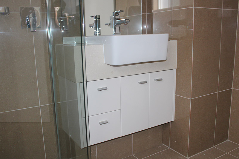 Vanity for apartment bathroom, Darwin